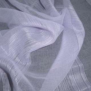 Лен французский сиреневый бледный с узкими атласными полосками ш.275 оптом