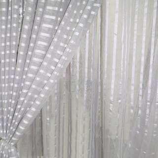 Лен французский серый светлый с атласными полосками ш.280 оптом