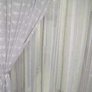Лен французский серый светлый с узкими атласными полосами ш.280 оптом