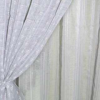 Лен французский серый светлый с витыми полосками ш.280 оптом