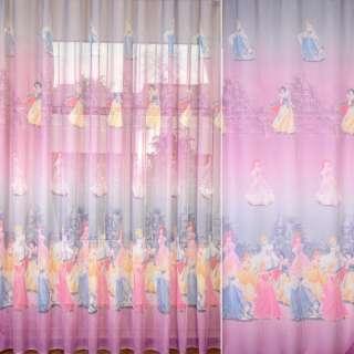 Лен гардинный Диснеевские принцессы, ш.270 оптом