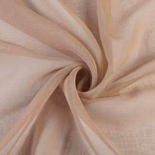 Лен французский бежево-розовый, ш.280 оптом
