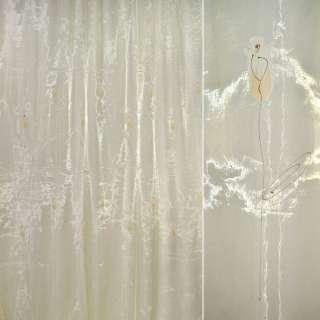 Органза  желт.  с  высокими  персик.  цветкам оптом