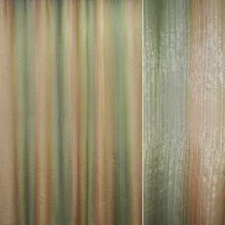 "органза жат. зеленая+оливково-желтая ""радуга"" ш.280 оптом"