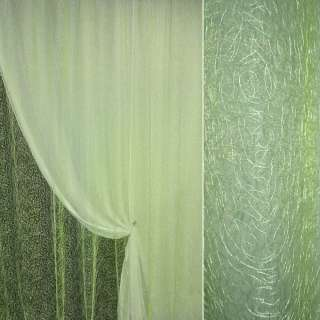 Органза cветло-зеленая с вышивкой паутинка ш.270 оптом