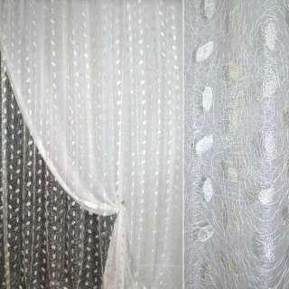Органза орари белая с вышивкой паутинка ш.270 оптом