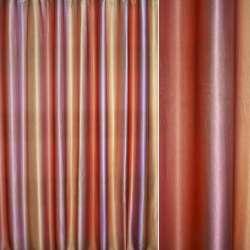 Атлас блэкаут сиренево-оранжево-золотистый радуга оптом