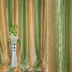 Атлас жатый бежево-желтый+оливковый радуга ш.275 оптом