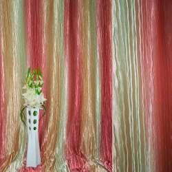 Атлас жатый салатово-персиковый + розовый радуга ш.275 оптом