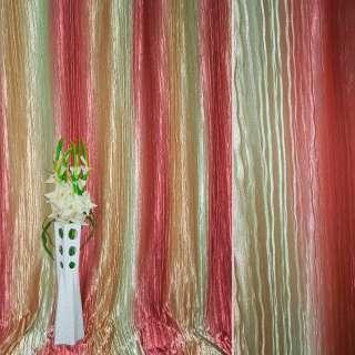 """атлас жатый салатово-персик. + розовый """"радуга"""" ш.275 оптом"""