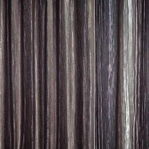 Атлас жатый коричнево-серый, бежево-розовый радуга ш.275 оптом