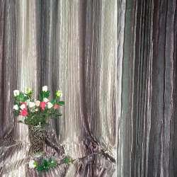 Атлас жатый коричнево-бежево-розовый радуга ш.275