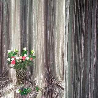 "атлас жатый коричнево-бежевый с  розов. ""радуга"" ш.275 оптом"