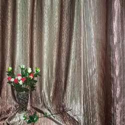 Атлас жатый коричнево-оливковый с золотистым отливом радуга ш.275