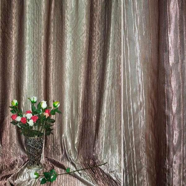 Атлас жатый коричнево-оливковый с золотистым отливом радуга ш.275 оптом
