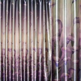 блэкаут св/коричневый с фиолет. каллами ш.275 оптом
