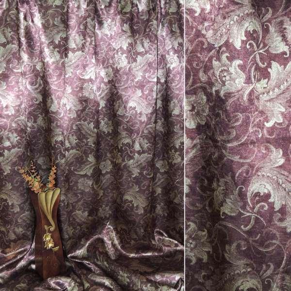 Блэкаут бордовый с декоративными тюльпанами ш.275 оптом