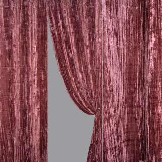 Ткань порт. велюр жатый фуксия ш.140 оптом