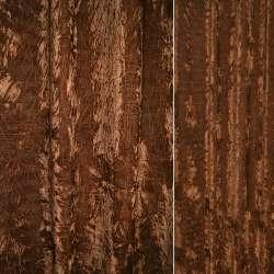 Велюр портьерный жатый терракотовый ш.140