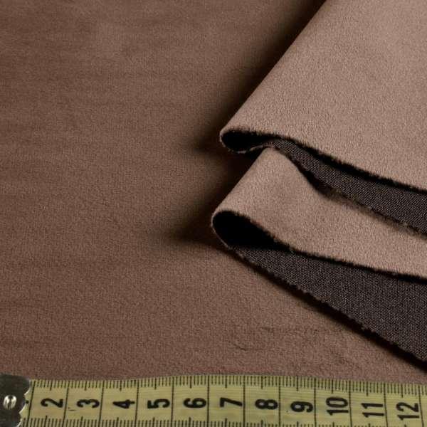 Велюр портьерный серо-коричневый, ш.280 оптом