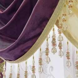 Велюр портьерный фиолетовый, ш.280