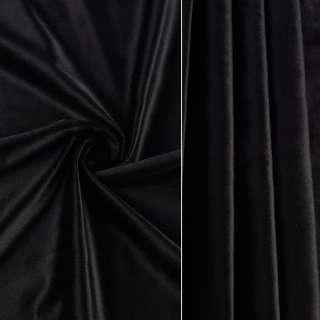 Велюр портьерный черный ш.280 оптом