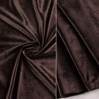 Велюр портьерный коричневый темный ш.280 оптом