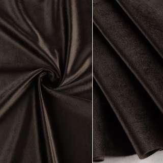 Велюр портьерный серо-коричневый темный ш.280 оптом