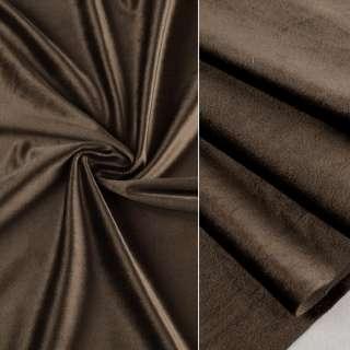 Велюр портьерный коричнево-серый ш.280 оптом