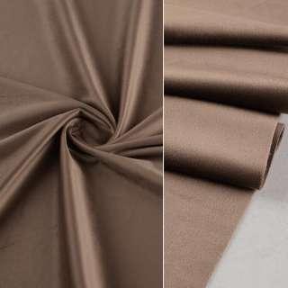Велюр портьерный коричневый светлый, ш.280 оптом