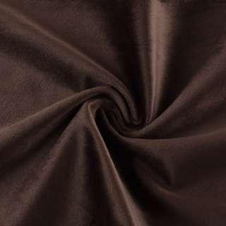 Велюр портьерный коричнево-серый матовый ш.280 оптом