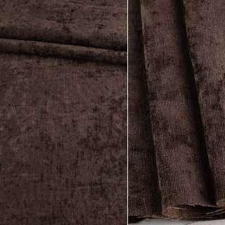 Велюр блекаут шторний коричневий, ш.280 оптом