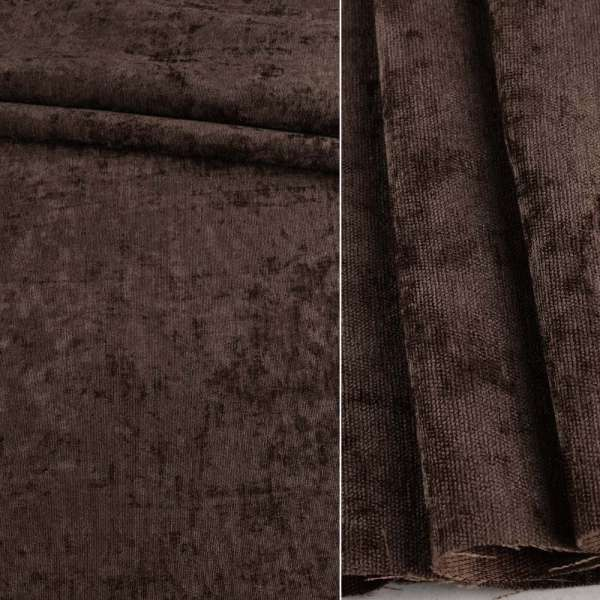 Велюр блэкаут шторный коричневый, ш.280 оптом