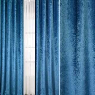Велюр блекаут шторний синій світлий, ш.280 оптом