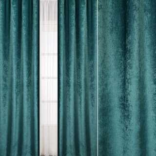 Велюр блекаут шторний зелений нефритовий, ш.280 оптом
