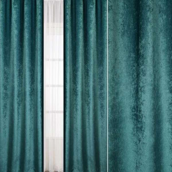 Велюр блэкаут шторный зеленый нефритовый, ш.280 оптом