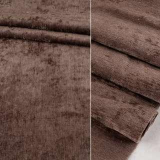 Велюр блэкаут шторный коричневый светлый ш.280 оптом