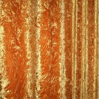 ткань порт велюр жатый желтый оптом