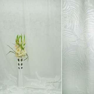 вельбоа порт. молочный в листья (штамп) ш.155 оптом