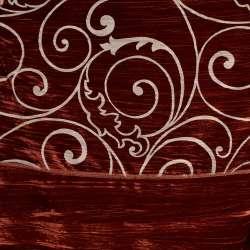 """Велюр жатый красный """"испанский дворик"""" ш.270"""