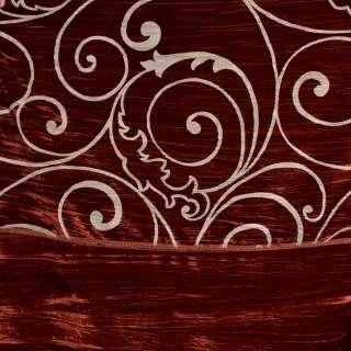 """Велюр жатый красный """"испанский дворик"""" ш.270 оптом"""