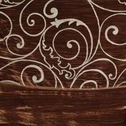 "Велюр жатый коричневый ""испанский дворик"" ш.270"