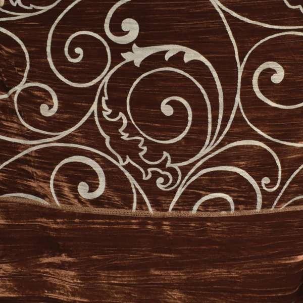 "Велюр жатый коричневый ""испанский дворик"" ш.270 оптом"