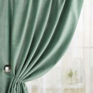 Велюр для штор зелено-сірий світлий (каталог 75) ш.280 оптом