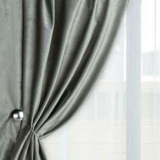 Велюр для штор оливково-сірий світлий (каталог 75) ш.280 оптом