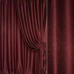 """Жаккард портьерный петлевидный """"капля"""" темно-бордовый ш. 275"""