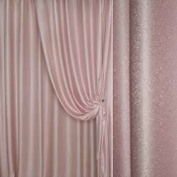 """Жаккард портьерный петлевидный """"капля"""" розовый, ш.275"""