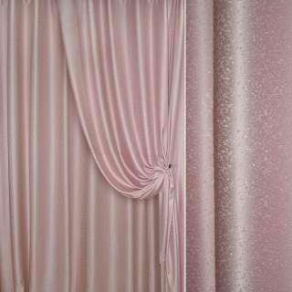 """Жаккард портьерный петлевидный """"капля"""" розовый, ш.275 оптом"""