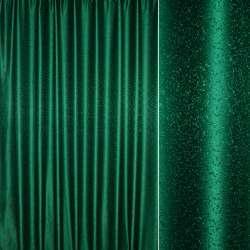 """Жаккард портьерный петлевидный """"капля"""" зеленый, ш.275"""
