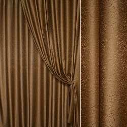 """Жаккард портьерный петлевидный """"капля"""" коричневый, ш.275"""